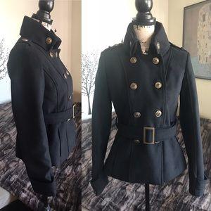 BLACK RIVET military style jacket XS